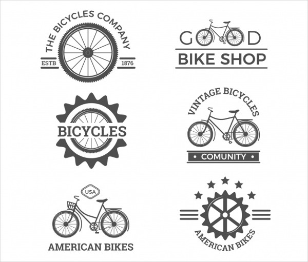 Original Pack of Vintage Bike Logos Free