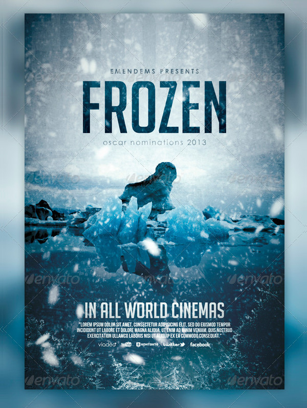Print Ready Frozen Flyer Template