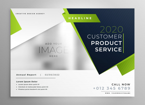 Professional Green Business Brochure Design Free