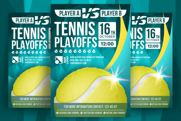 Professional Tennis Playoffs Flyer