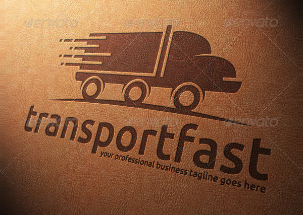 Professional Transport Truck Logo Template