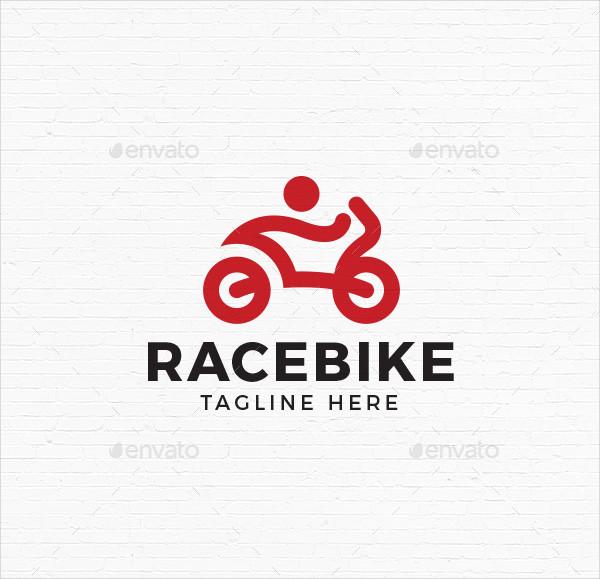 Race Bike Logo Template