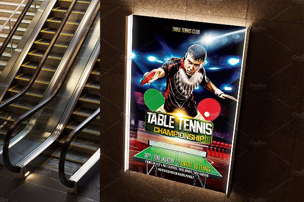 PSD Table Tennis Flyer Template
