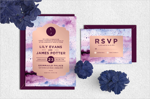 Royal Wedding Invitation & RSVP Template