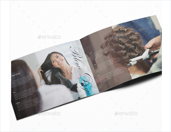 Salon and Spa Service Information Brochure