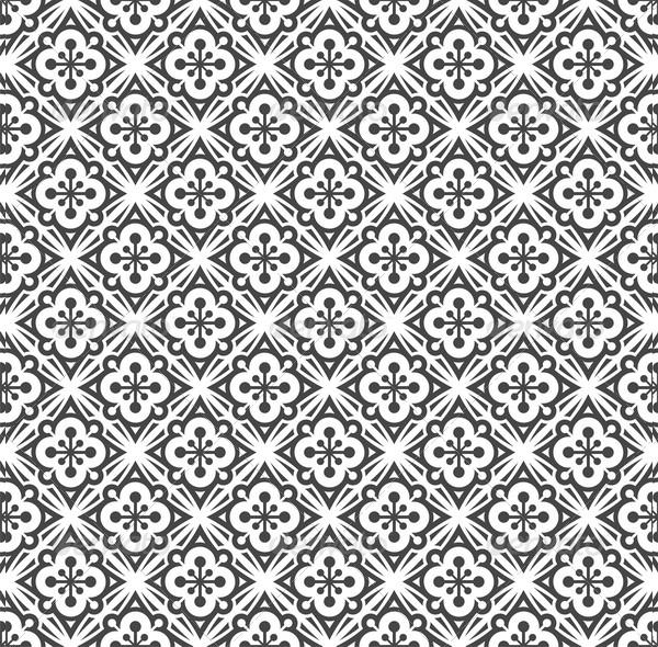 Seamless Black & White Pattern Design