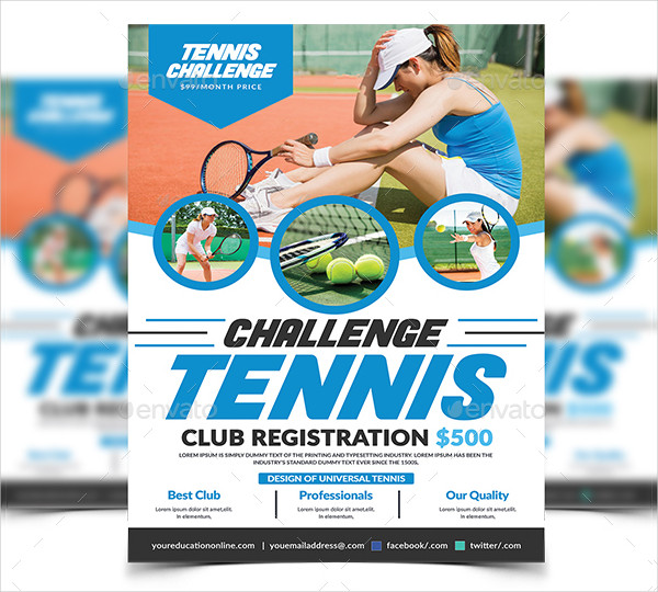 Simple Tennis Flyer Template