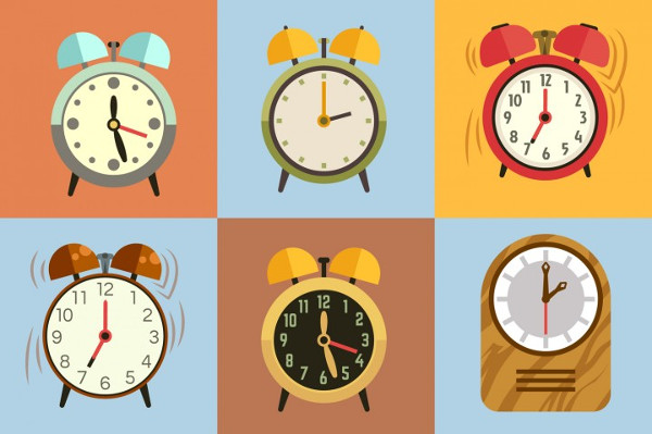 Alarm Clock Icon collection Vector