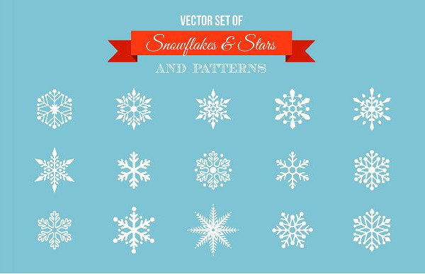 Snowflakes Stars Icons & Patterns