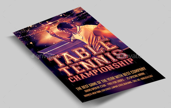 Best Table Tennis Flyer Template