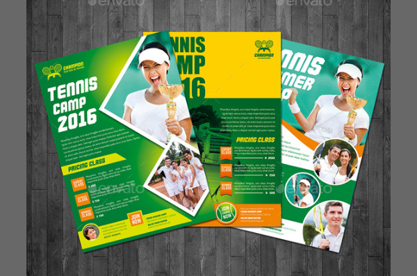 Popular Tennis Camp Flyer