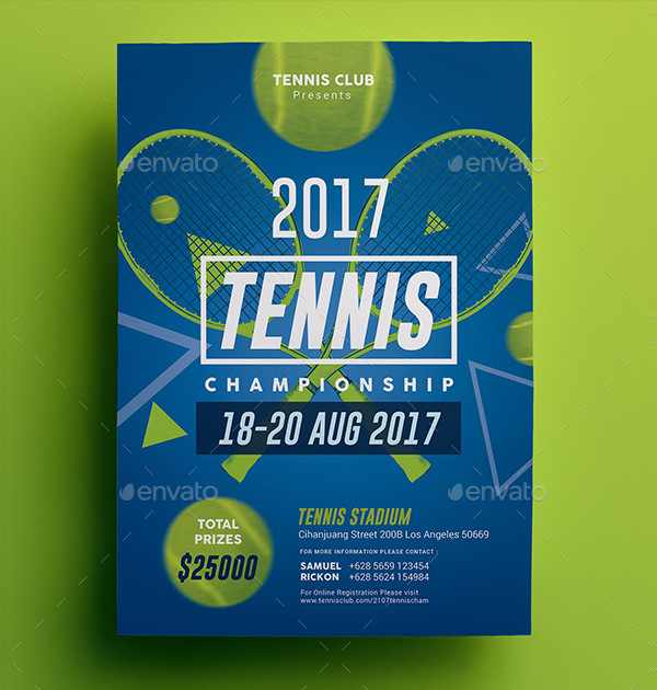 Unique Tennis Championship Flyer Design