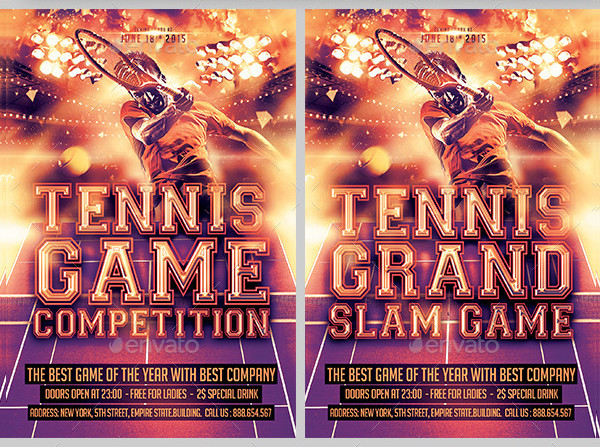 Tennis Game Competition Flyer