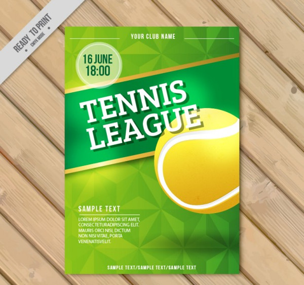 Tennis League Flyer Free Download