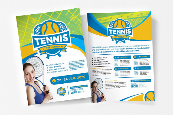 Tennis Photoshop Flyer Template
