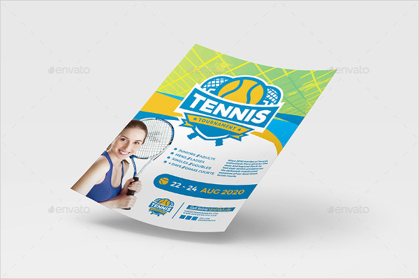 Amazing Tennis Poster And Flyer Template