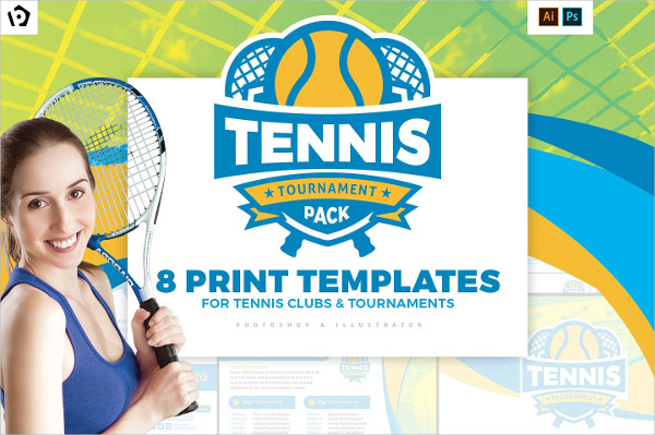 Tennis Templates Pack for Photoshop & Illustrator