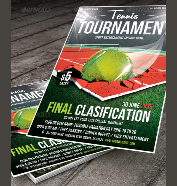 Cool Tennis Tournament Flyer