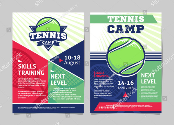 Tennis Camp Posters or Flyers Template