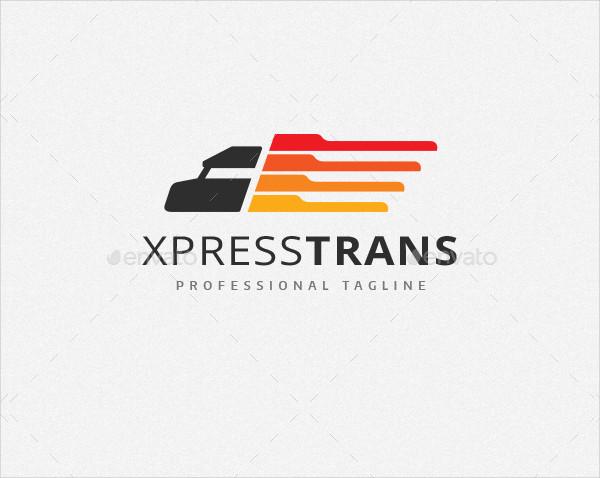 Transport Delivery Truck Logo