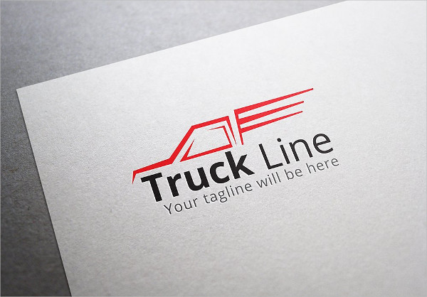 Truck Line Logo Design