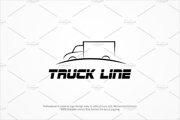 Truck Line Logo Template