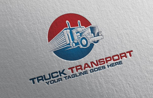 Truck Transport Logo & Stationery