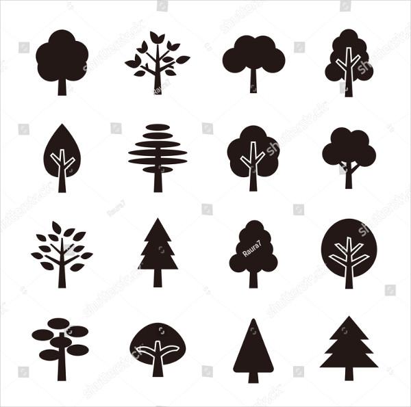 Unique Tree Icon Set