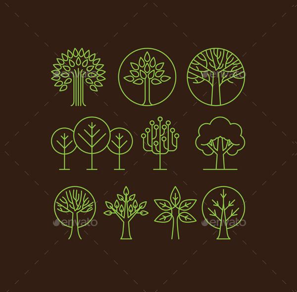 Vector Organic Tree Icons