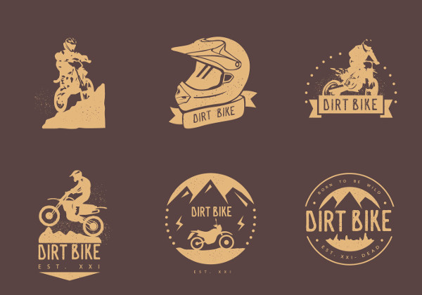 Vintage Bike Logo Vectors Free Download