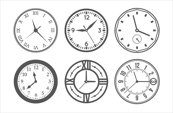 Wall Clock Vector Icons