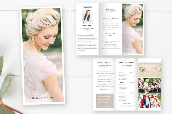 Wedding Photography Information Brochure Template
