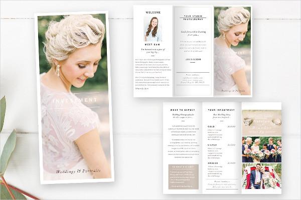 Wedding Photography Information Brochure Template