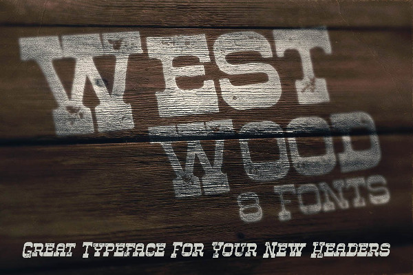 Western Style Display Font