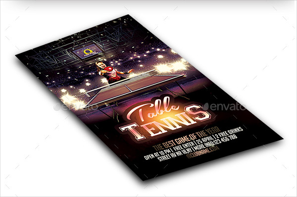 Famous Table Tennis Flyer Template