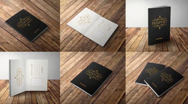 10 Passport 10 Free PSD Mockups