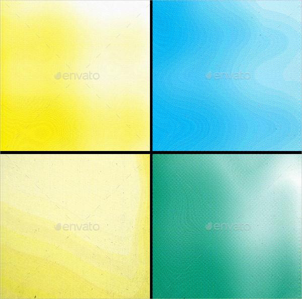 12 Color Halftone Textures