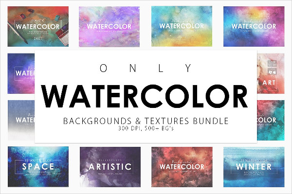 Abstract Watercolor Backgrounds Bundle