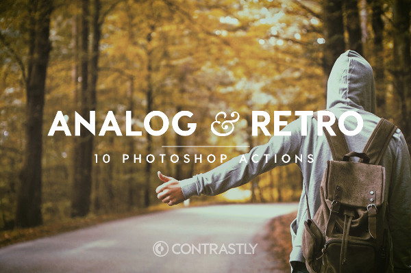 Analog & Retro Photoshop Action Bundle