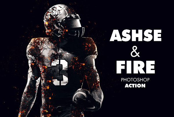 Ashes and Fire Photoshop Actions