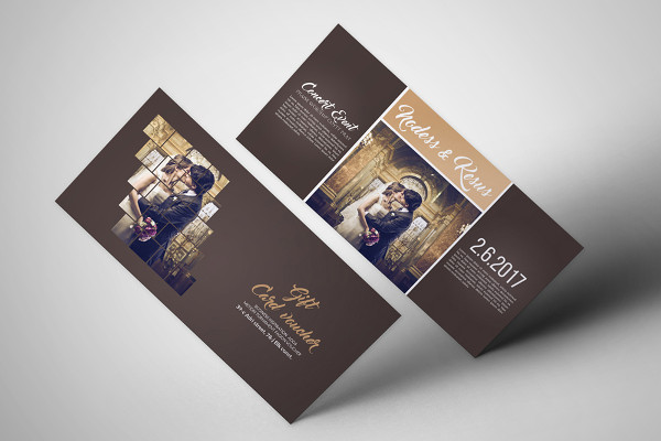 Attractive Wedding Invitation Gift Voucher
