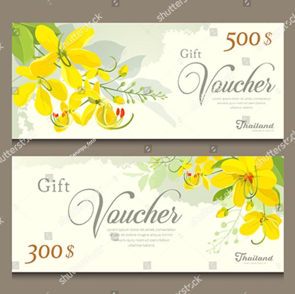 Beautiful Wedding Gift Voucher Templates