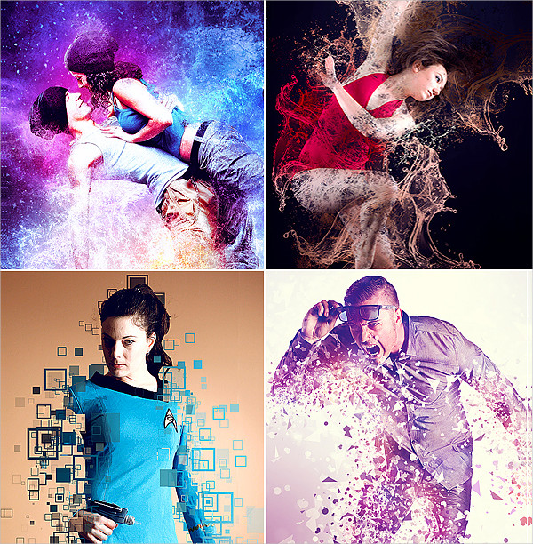 Big Abstract Photoshop Actions Bundle