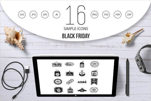 Black Friday Simple Style Icons