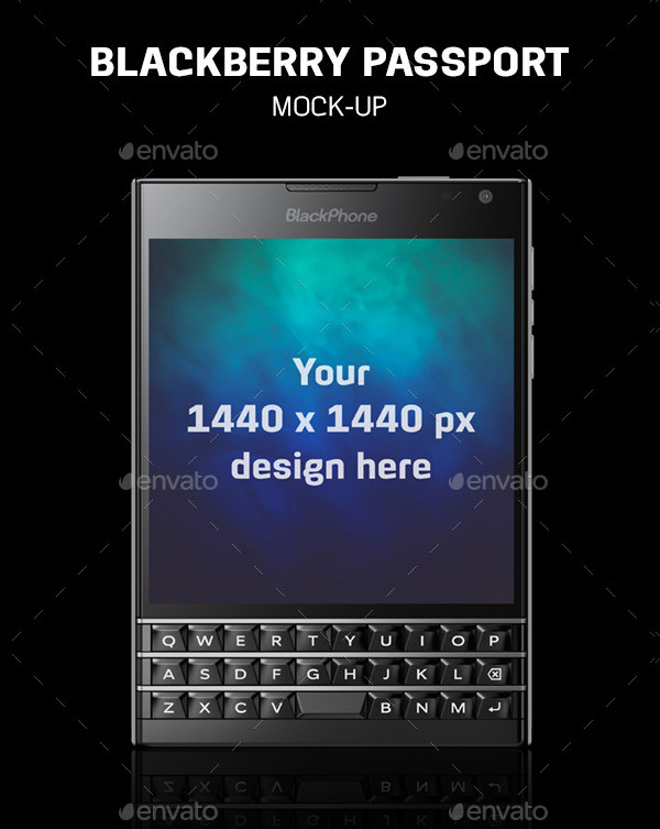 Blackberry Passport Mock-Up