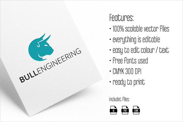 Bull Engineering Logo Template