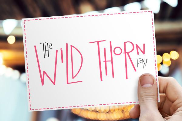 Cartoon Wild Thorn Font