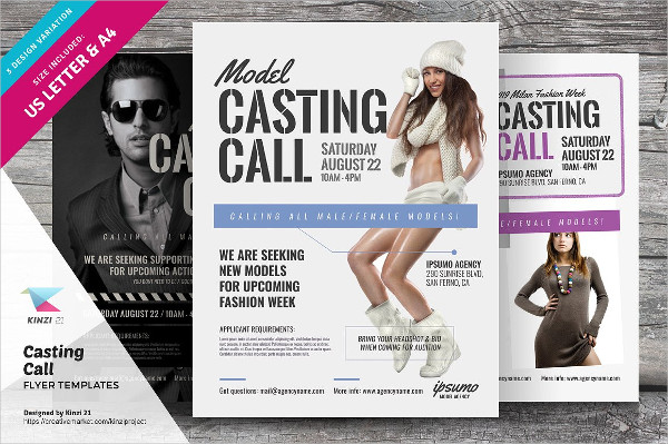 Casting Call Flyer Templates