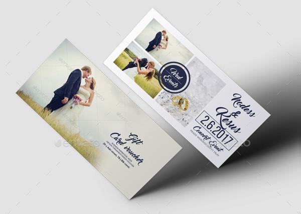Clean Wedding Gift Voucher Template