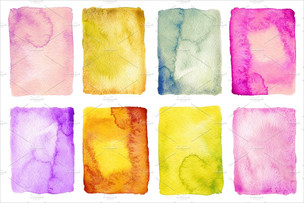 Collection of Abstract Watercolor Painted Backgrounds